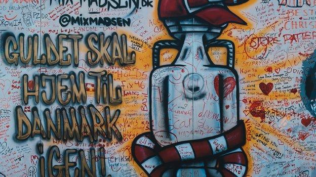 """Граффити Кубка Европы. Фото """"СЭ"""""""