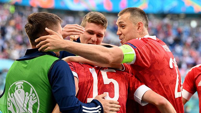 Футболисты сборной России. Фото Reuters