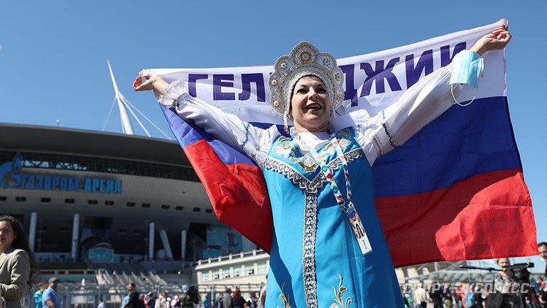 Болельщица сборной России. Фото Александр Федоров, «СЭ» / Canon EOS-1D X Mark II