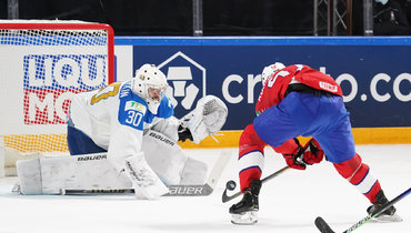 Никита Бояркин вматче против Норвегии наЧМ-2021.
