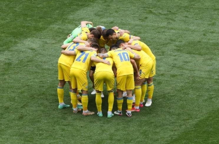 Сборная Украины. Фото UEFA.