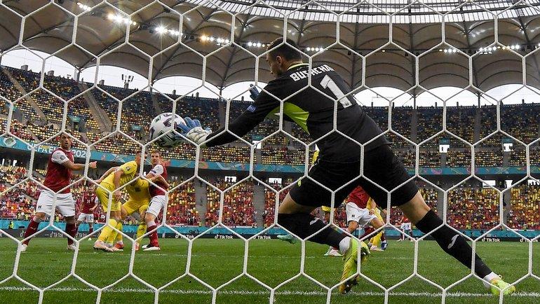 Украина— Австрия. 21-я минута. Гол Кристофа Баумгартнера. Фото AFP