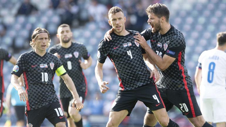 Сборная Хорватии сыграет против Шотландии наЕвро-2020. Фото twitter.com/HNS_CFF
