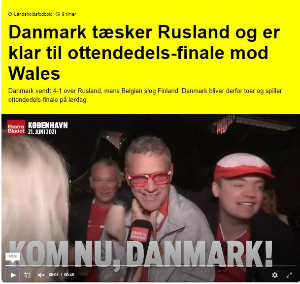 Сайт ekstrabladet.dk.
