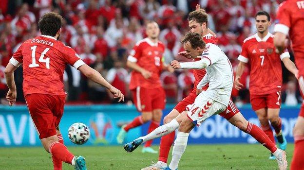 22июня. Евро-2020. Дания— Россия— 4:1. Фото AFP