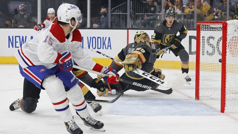 «Вегас»— «Монреаль»— 1:4. Йеспери Котканиеми открывает счет вматче. Фото Ethan Miller, Getty Images