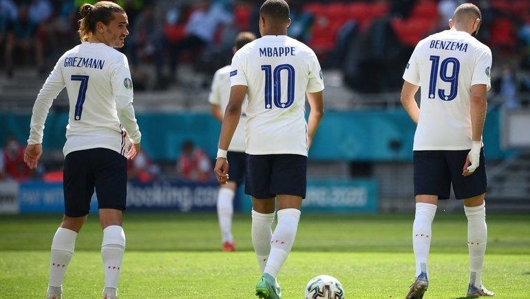 Звезды сборной Франции наЕвро-2020: Антуан Гризманн, Кильян Мбаппе иКарим Бензема. Фото AFP