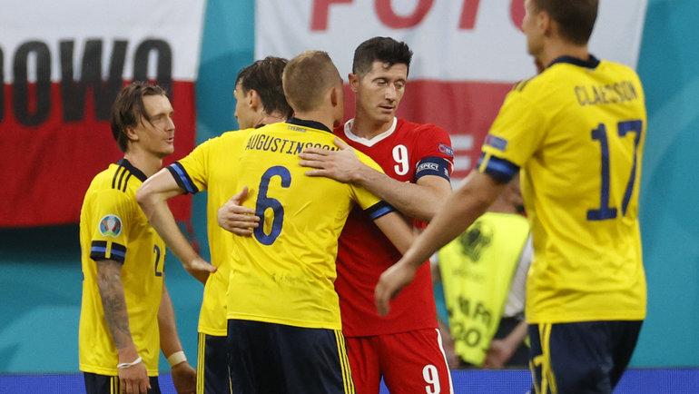 23июня. Швеция— Польша— 3:2. Фото AFP