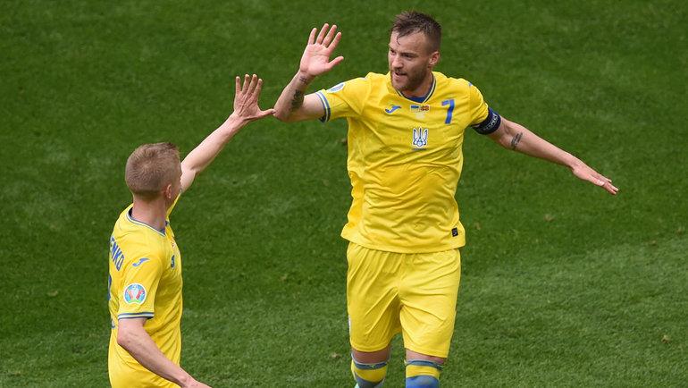 Украина впервые всвоей истории вышла вплей-офф чемпионата Европы. Фото AFP