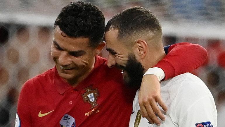 23июня. Будапешт. Португалия— Франция— 2:2. Криштиану Роналду иКарим Бензема.