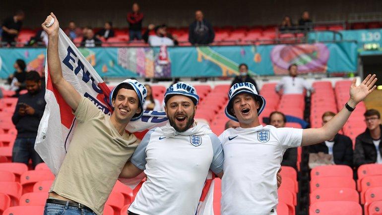 Болельщики сборной Англии на «Уэмбли». Фото Twitter