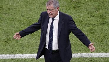 Главный тренер сборной Португалии отметил коллективные действия команды вматче сФранцией