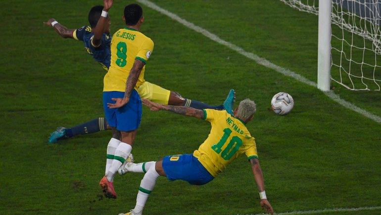 24июня. Бразилия— Колумбия— 2:1. Фото Twitter