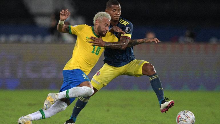 24июня. Бразилия— Колумбия— 2:1. Фото AFP