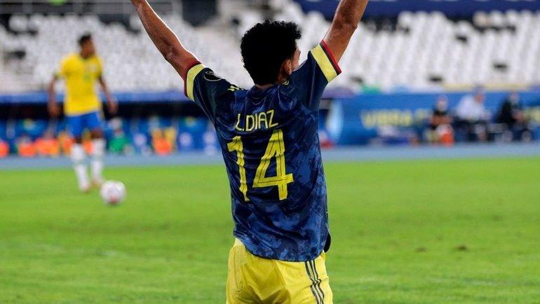 24июня. Бразилия— Колумбия— 2:1. Луис Диас. Фото Instagram