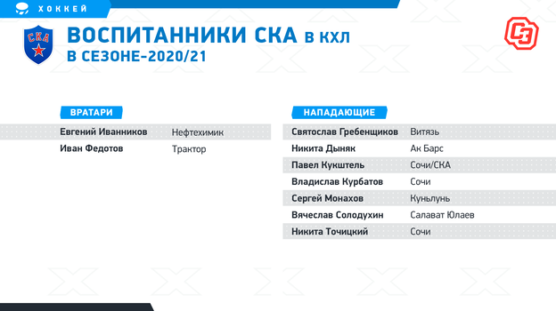 Российские хоккейные школы, чьи воспитанники играют в КХЛ.