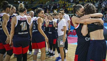 Сборная России побаскетболу несмогла выйти вполуфинал женского Евробаскета. Фото РФБ