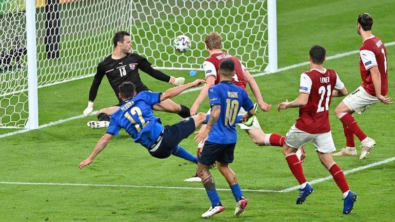 Манчини едва неразрушил то, что строил три года. Италия вымучила победу над Австрией