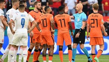Чехия обыграла Нидерланды ивышла в1/4 финала Евро-2020
