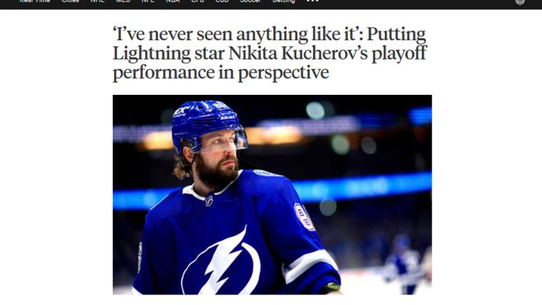 Интернет-портал The Athletic выпустил материал про Никиту Кучерова.