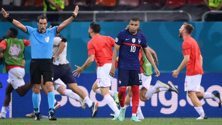 Падение Бастилии. Швейцария выбила Францию сЕвро-2020