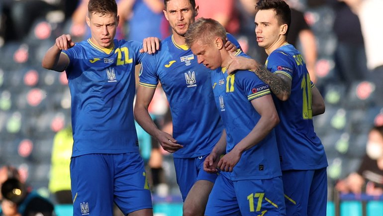 Сборная Украины вышла в1/4 финала Евро. Фото AFP