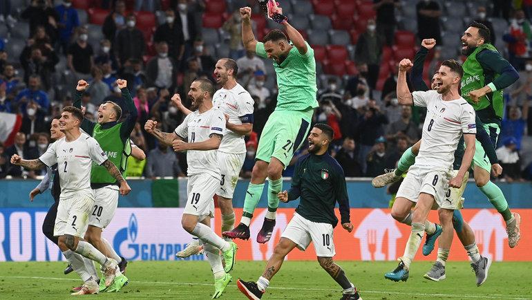2июля. Мюнхен. Бельгия— Италия— 1:2. Сборная Италии вышла вполуфинал Евро-2020.
