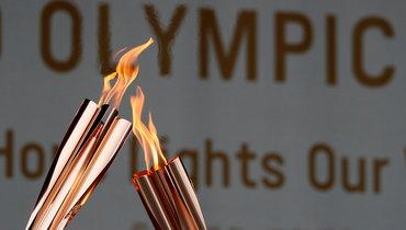 Олимпийский огонь Токио-2020.