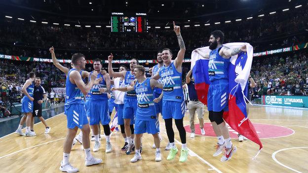4июля. Каунас. Литва— Словения— 85:96. Фото Reuters