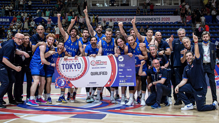 Италия победила Сербию вфинале отбора наОлимпийские игры вТокио. Фото FIBA