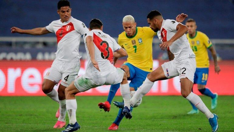 6июля. Полуфинал Кубка Америки. Бразилия— Перу— 1:0. Фото Twitter