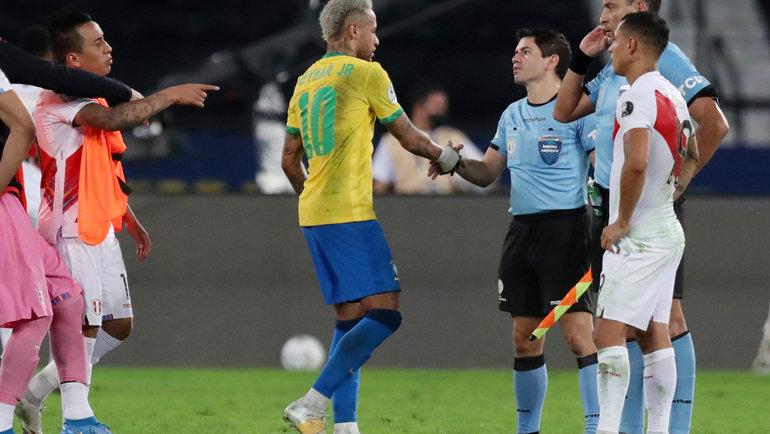 Рио-де-Жанейро. Кубок Америки. Полуфинал. Бразилия— Перу— 1:0. Фото Reuters