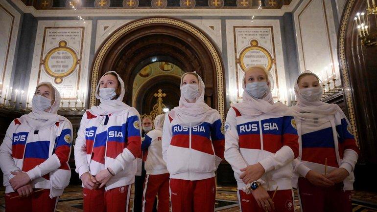 Российские олимпийцы. Фото AFP