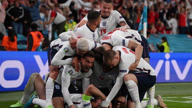Сборная Англии вфинале Евро-2020. Фото AFP
