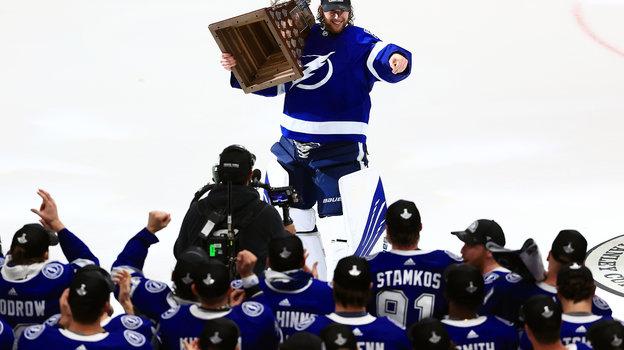 Андрей Василевский— самый ценный игрок плей-офф чемпионов НХЛ. Фото Getty Images