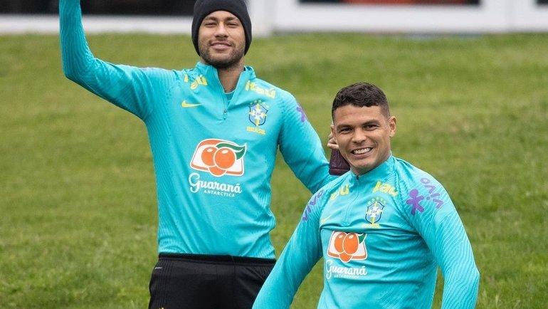 Неймар и Тиагу Силва. Фото Instagram