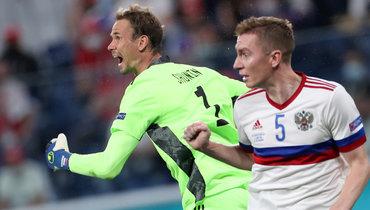 Черчесов объяснил, почему матч сБельгией наЕвро-2020 начали Семенов иШунин, анеДивеев иСафонов