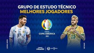 Месси иНеймар признаны лучшими игроками Кубка Америки
