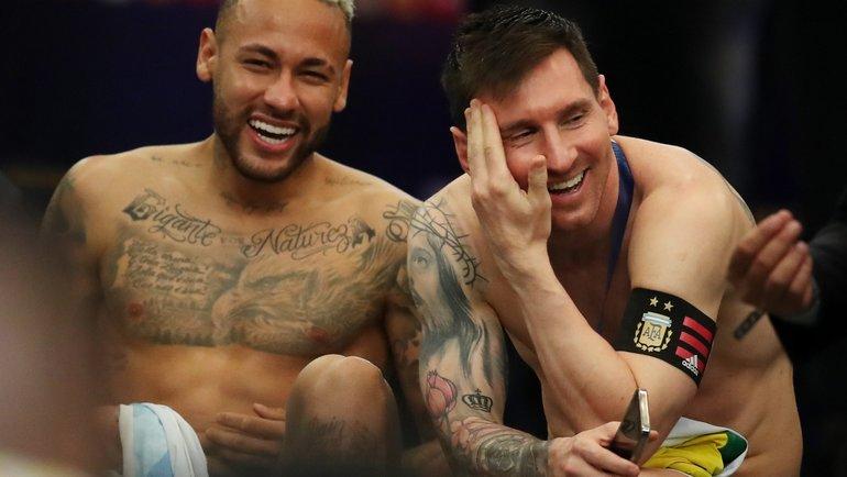 Неймар иМесси после финала Кубка Америки. Фото Reuters