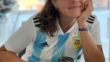 «Чемпионы». Касаткина сфотографировалась вфутболке сборной Аргентины
