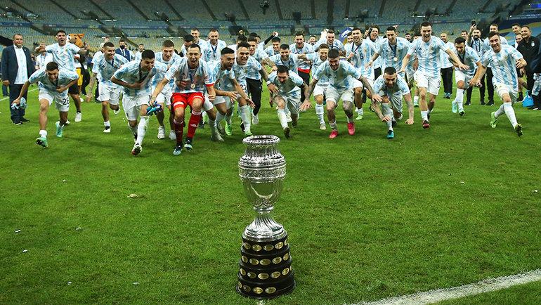 Сборная Аргентины празднует победу в Кубке Америки. Фото Getty Images