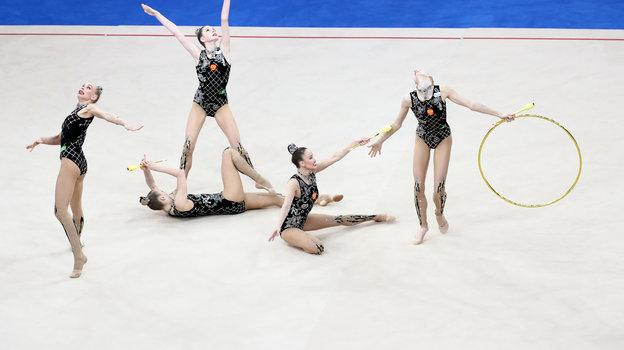 Сборная России по художественной гимнастике. Фото Дарья Исаева, «СЭ» / Canon EOS-1D X Mark II