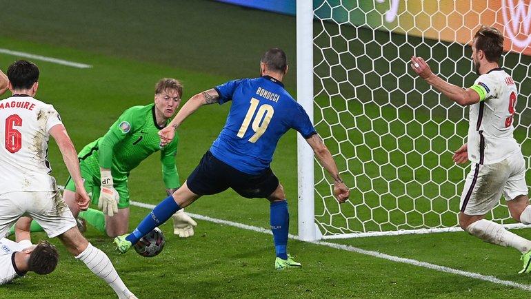 Леандро Бонуччи провел ответный гол вфинале. Фото AFP