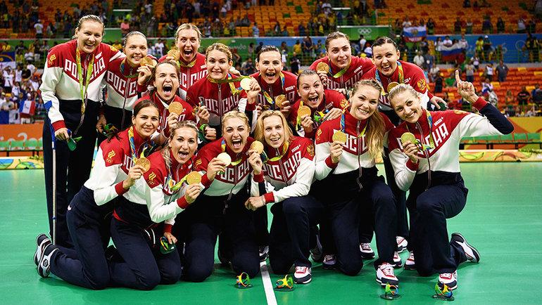 2016 год. Рио-де-Жанейро. Российские гандболистки празднуют победу вматче зазолото. Фото Getty Images