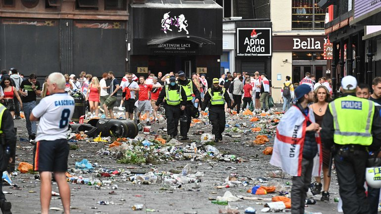 Лондон после финала Евро-2020. Фото AFP