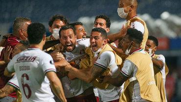 14июля. «Серро Портеньо»— «Флуминенсе»— 0:2. Нене празднует гол. Фото Twitter