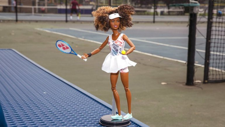 Кукла Барби ввиде японской теннисистки Наоми Осаки. Фото Ted Shaffrey, AP