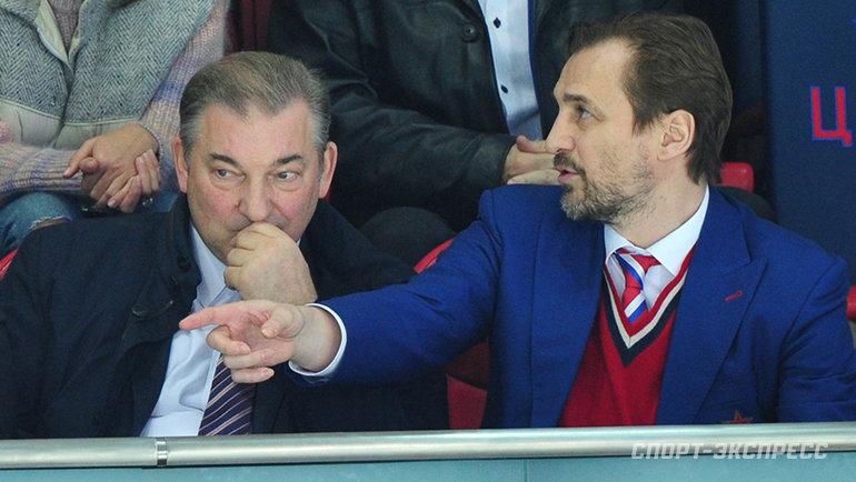 Владислав Третьяк и Сергей Федоров. Фото Александр Федоров, «СЭ»