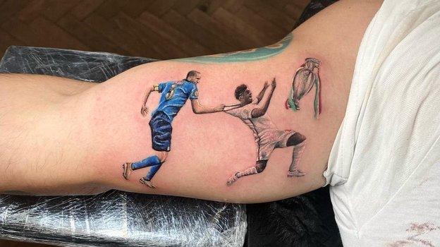 Татуировка фаната сборной Италии. Фото Instagram