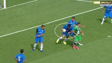 «Рубин»— «Сочи»: мяч попал вруку Родригау, нопенальти правильно неназначен